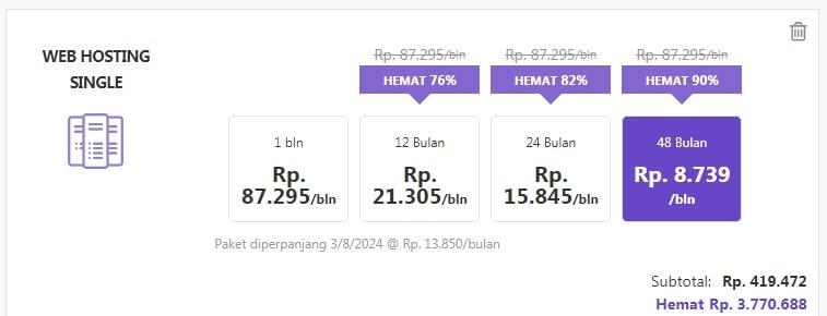 Hostinger Indonesia plans